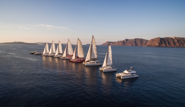 Sunset Oia Sailing - fleet